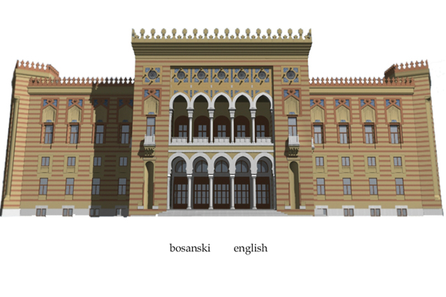 Virtual 3D reconstruction of the National Library Building (City